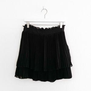Free People Pleated Accordion Tiered Mini Skirt
